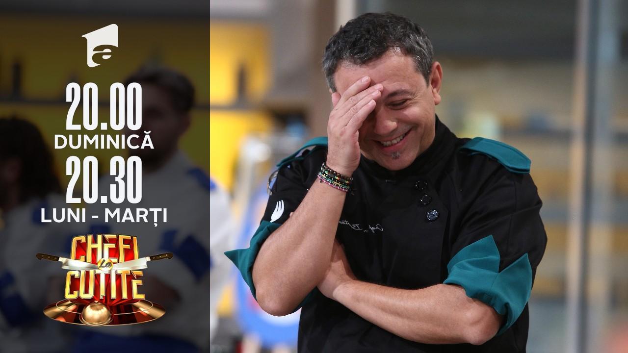 """Emoții la bandă Chefi la cuțite! Chef Sorin Bontea: """"Nici nu mă mai uit"""""""