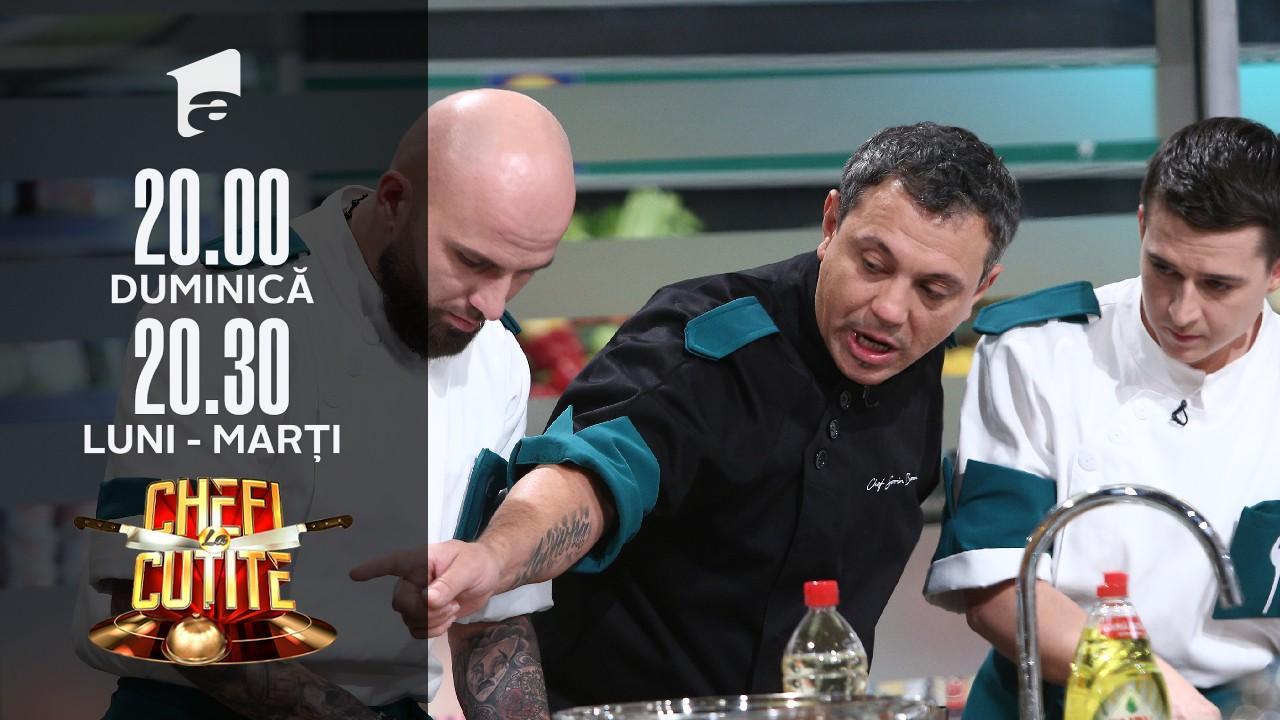 Emoții în bucătăria Chefi la cuțite! Sorin Bontea: E balamucul de pe lume!
