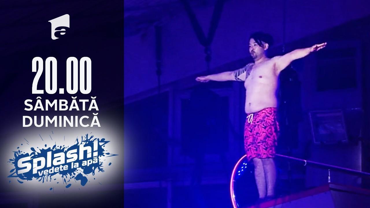 Splash! Vedete la apă, 5 septembrie 2021. Rikito Watanabe, cel mai energic concurent, săritură cu emoții.