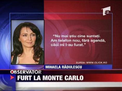 Mihalei Radulescu a ramas fara telefon mobil la Monte Carlo