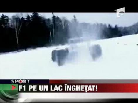 Formula 1 pe un lac inghetat