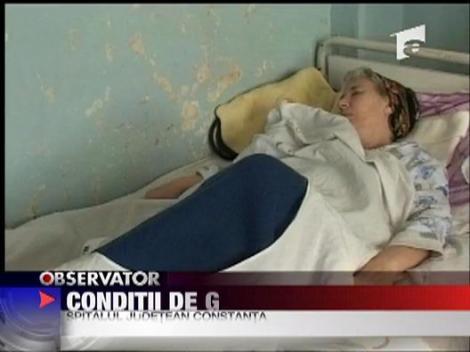 Conditii de groaza la spitalul din Constanta