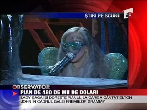 Lady GaGa si-a luat pian de 480.000 de dolari!