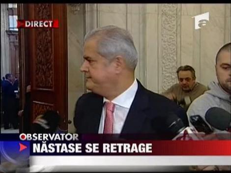 Adrian Nastase se retrage