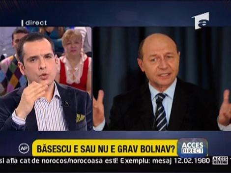 """C. V. Tudor: """"Basescu e suferind"""""""