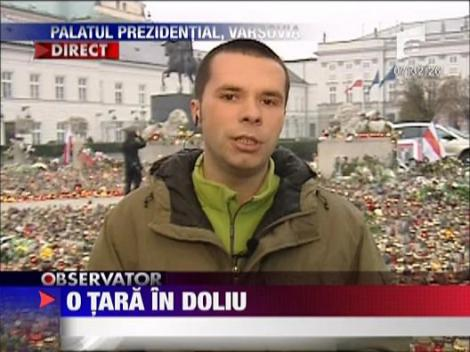 Doliu la palatul prezidential din Varsovia