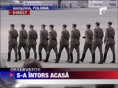 Lech Kaczynski s-a intors acasa