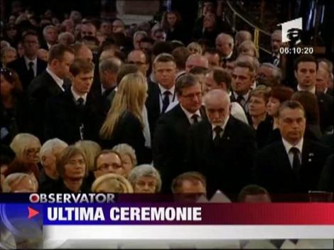 Ultima ceremonie pentru Lech Kaczynski
