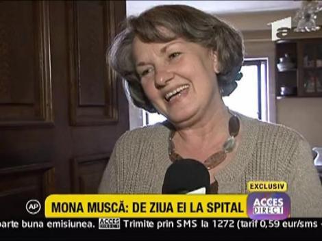 Mona Musca a ajuns la spital de ziua ei