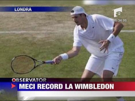 Meci de record mondial la Wimbledon!