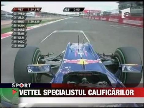 Vettel, specialistul calificarilor