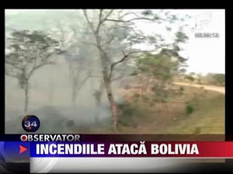 Bolivia lovita de incendii puternice