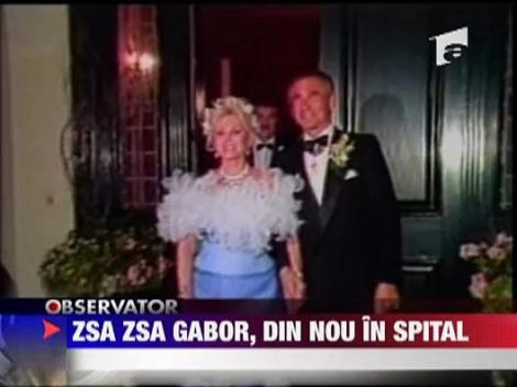 Zsa Zsa Gabor, din nou in spital