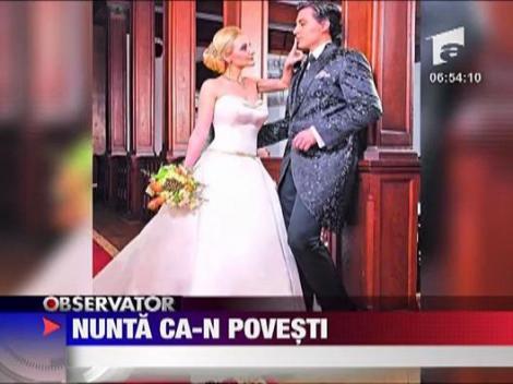 Nunta ca-n povesti pentru Alina Sorescu si Alexandru Ciucu