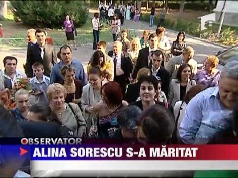 Alina Sorescu s-a maritat