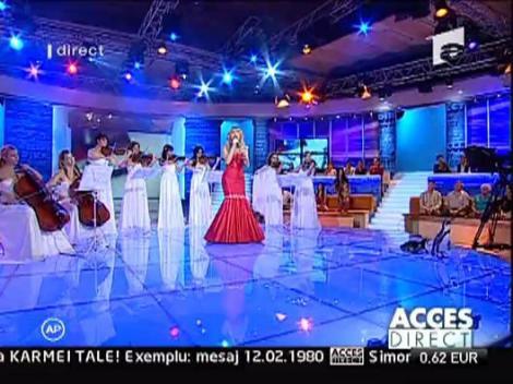 Diana a cantat la Acces Direct
