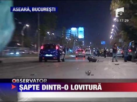 Accident spectaculos in Bucuresti