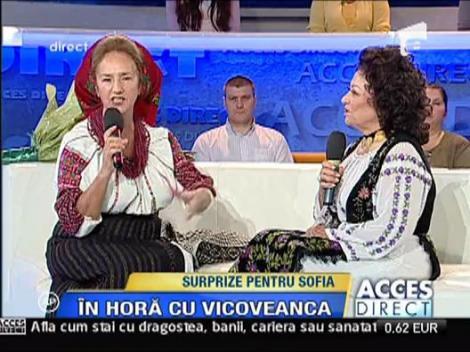 Maria Ciobanu i-a adus flori Sofiei Vicoveanca