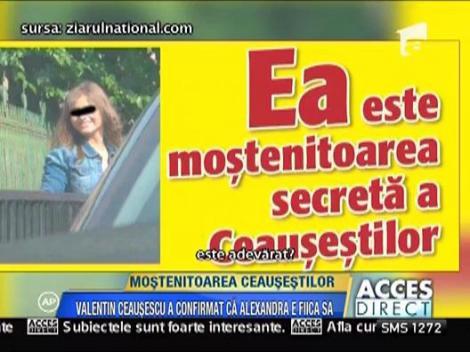 """Valentin Ceausescu recunoaste: """"Da, am o fiica, este adevarat"""""""