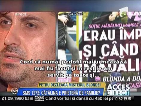 Petru Mircea explica relatia cu blonda