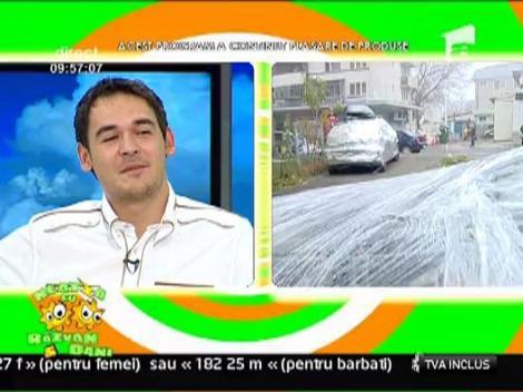 Masina lui Razvan impachetata bine in poleiala