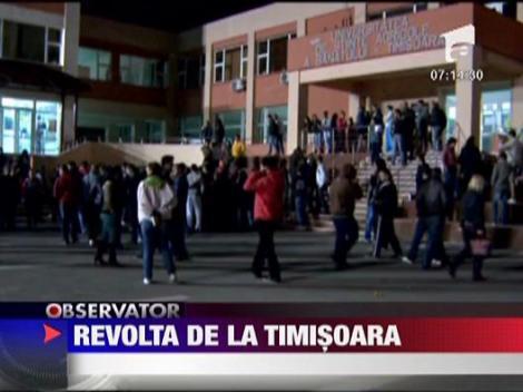 Revolta intr-un complex universitar din Timisoara