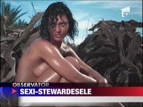 Sexi-stewardese! Calendar inedit