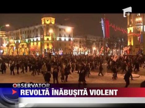Revolta in Belarus, inabusita violent