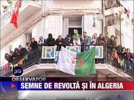 Semne de revolta si in Algeria