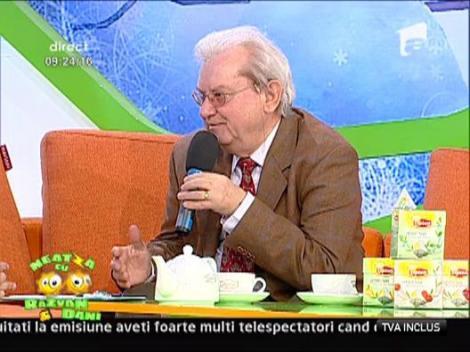 Prof. dr. Gheorghe Mencinicopschi despre ceai