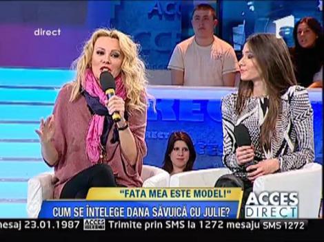 Dana Savuica a fost make-up artist pentru fiica ei, Julie
