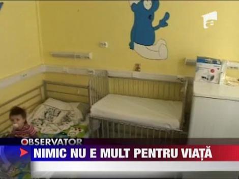 Spitalul Clinic Marie Curie, un motiv de speranta pentru copii