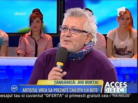 Tandarica - vrea sa prezinte pe podium chilotii lui Botezatu