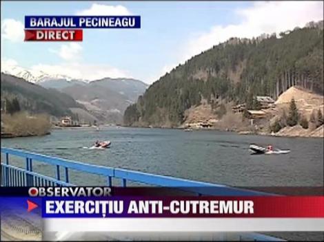 Exercitiu anti-cutremur la la Barajul Pecineagu din Rucar