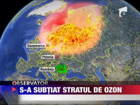 S-a subtiat stratul de ozon