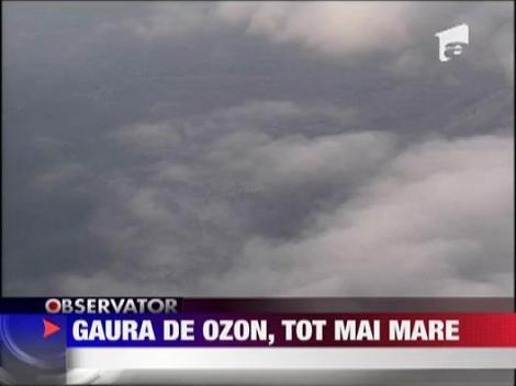 Gaura din stratul de ozon, tot mai mare