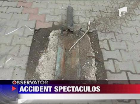 Accident spectaculos in Focsani