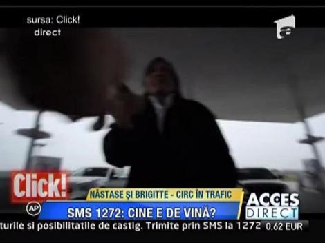 Ilie Nastase si Brigitte Sfat, circ in trafic