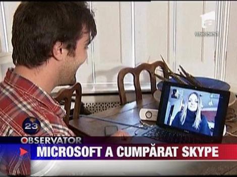 Microsoft a cumparat Skype