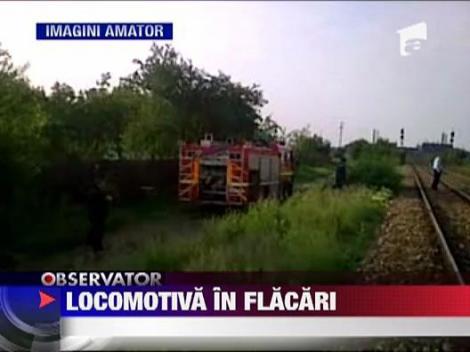 Locomotiva in flacari