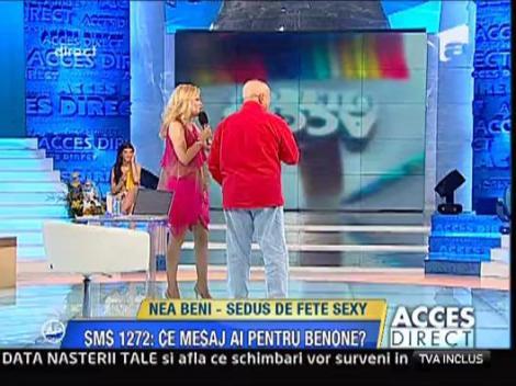 Nea Beni, tratat cu fete sexy la 74 de ani