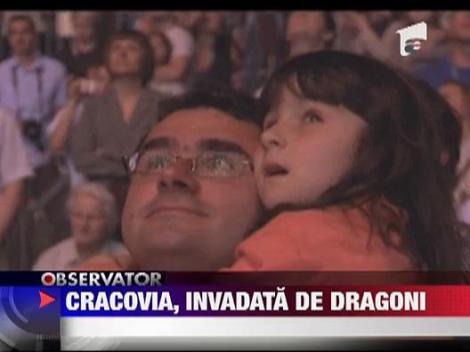 Sute de dragoni, liberi pe strazile Cracoviei