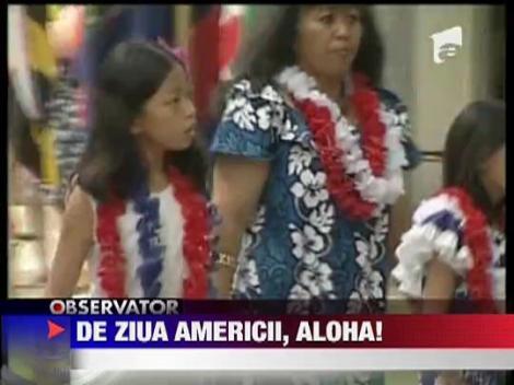 Party hawaian de Ziua Americii