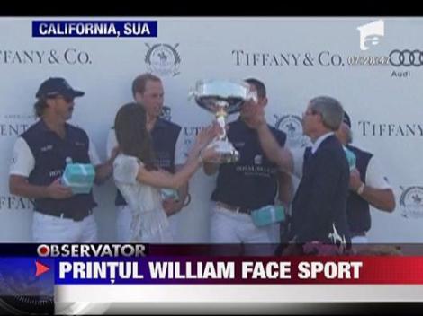 Printul William face sport