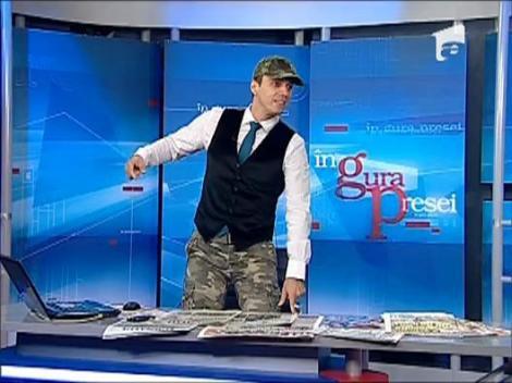 Mircea Badea, in echipament militar
