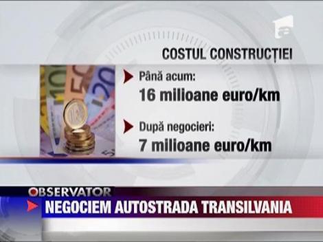 Negociri cu Bechtel pentru Autostrada Transilvania