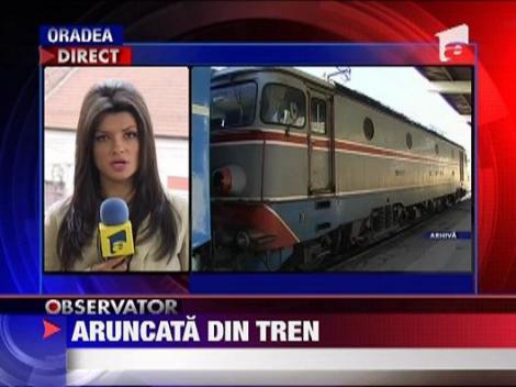 Timis: O adolescenta de 17 ani, aruncata din tren