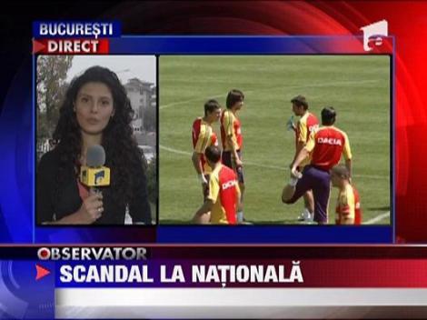 Scandal la lotul nationalei de fotbal