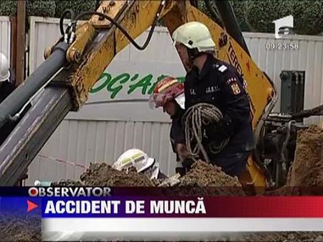Grav accident de munca pe santierul unui viitor hypermarket din Ploiesti