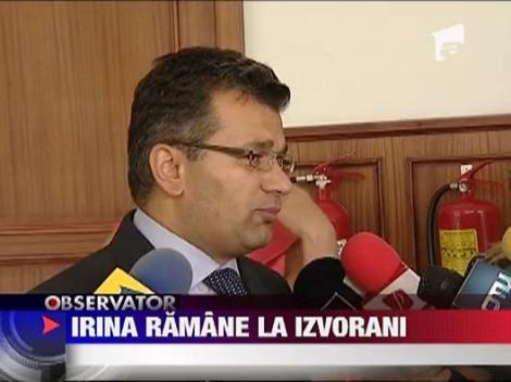 UPDATE / Irina ramane la Irinel Columbeanu
